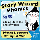 Age 4–6 Phonics & Sentences | Set 55: adding -S to the end of words