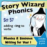 Age 4–6 Phonics & Sentences | Set 57: adding -ing to verbs