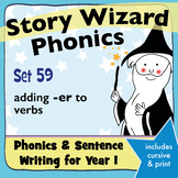 Age 4–6 Phonics & Sentences | Set 59: adding -er to verbs