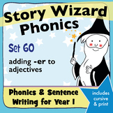 Age 4–6 Phonics & Sentences | Set 60: adding -er to adjectives