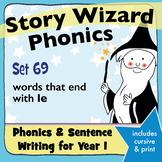 Age 4–6 Phonics & Sentences | Set 69: words that end with le