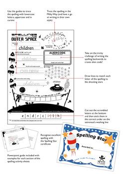 Age 4-6 Spellings: EAR as in EARTH