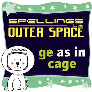 Age 4-6 Spellings: GE as in CAGE