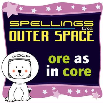 Age 4-6 Spellings: ORE as in CORE