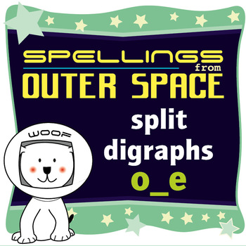 Age 4-6 Spellings: Split digraphs o_e