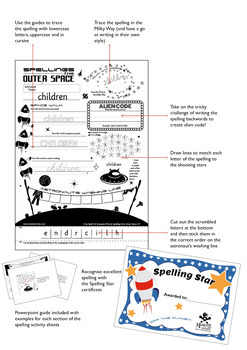 Age 4-6 Spellings: Weeks 1-6