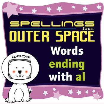 Age 4-6 Spellings: Words ending with AL