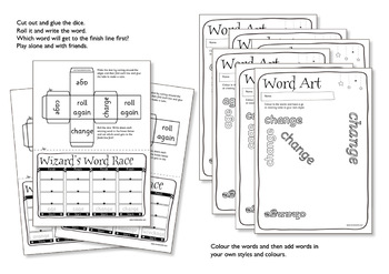 Age 5-6 Magic Spellings: Set 43 EW as in GREW & FEW