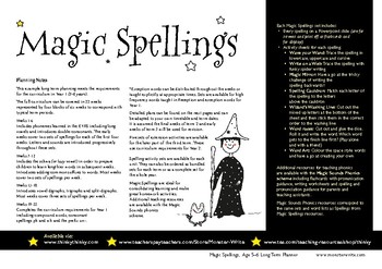 Age 5-6 Spelling Scheme: Magic Spellings: Long Term Planner