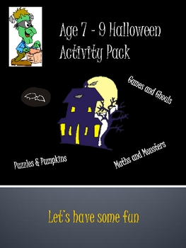 Age 7 - 9 Halloween Activity Pack
