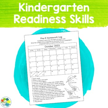 Age Appropriate Pre-K Homework for the ENTIRE School Year
