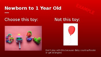 Age Appropriate Toys - HOLIDAY Child Care Research Activity