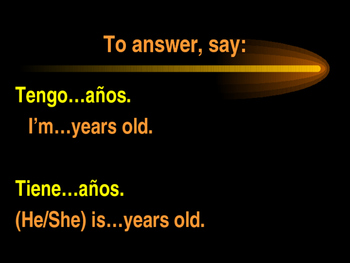 Age, Origin and Spanish-speaking countries