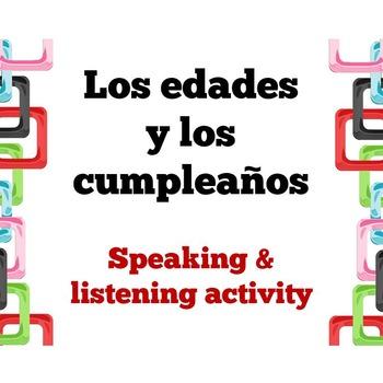 Age and Birthday Speaking Activity (Spanish)