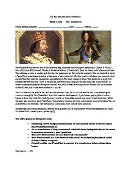 Age of Absolutism Monarch Project