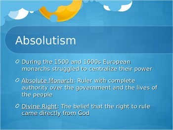 Age of Absolutism PowerPoint