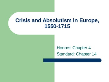 Age of Absolutism PowerPoint Presentation