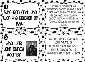 Andrew Jackson Task Cards - Black and White