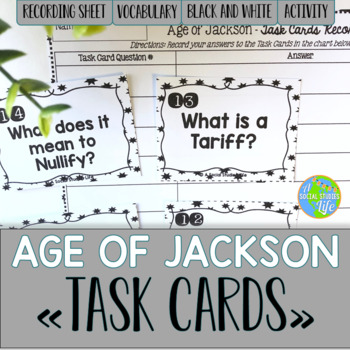 Andrew Jackson Task Cards - Black and White