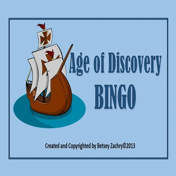 Age of Discovery BINGO game