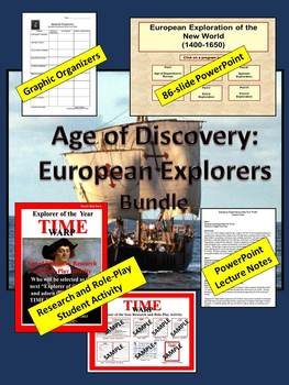 European Explorers of the New World Bundle (PowerPoint & R