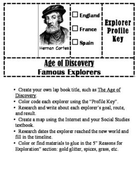 Age of Discovery Lap Book