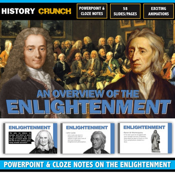 Age of Enlightenment - PowerPoint with Cloze Notes (Locke, Voltaire, Rousseau)
