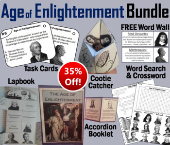 Age of Enlightenment Task Cards and Activities Bundle