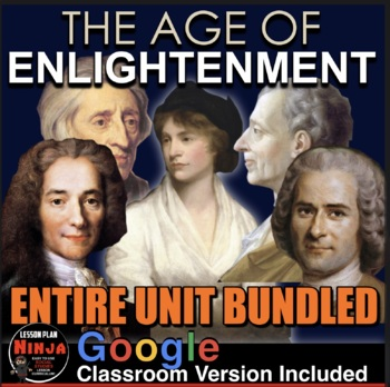 Age of Enlightenment Unit - PPTs, Worksheets, Lesson Plans+Test