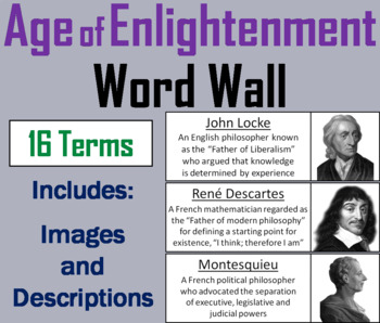 Age of Enlightenment Word Wall Cards