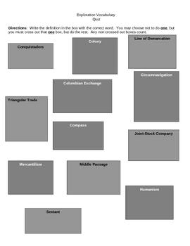 Age of European Exploration Bundle (Vocabulary Strategies)