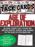 36 Task Cards for the Age of Exploration with Answer Sheet (Great for Review)