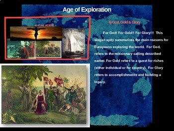 Age of Exploration - 4 causes, 4 figures, 4 events, 4 effects (20-slide PPT)