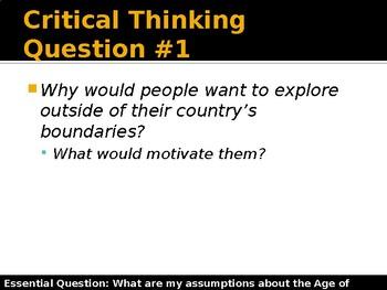 Age of Exploration - Assumptions