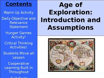 Age of Exploration - Assumptions