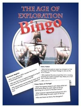 Age of Exploration BINGO