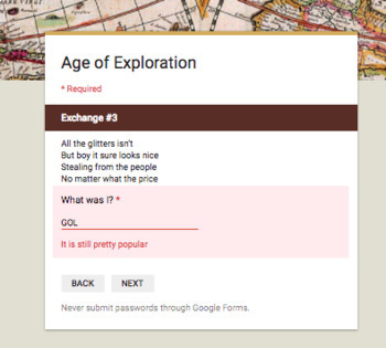 Age of Exploration Break In Activity