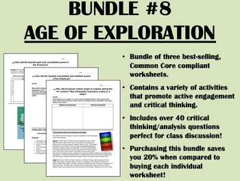 Bundle #8 - Age of Exploration  - Global/World History Common Core