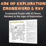 Age of Exploration - Crossword Puzzle and Key (23 Terms and Clues!)