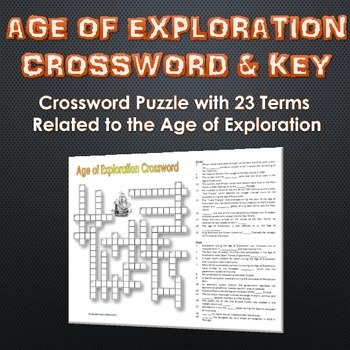 Age of Exploration - Crossword Puzzle and Key (23 Terms an