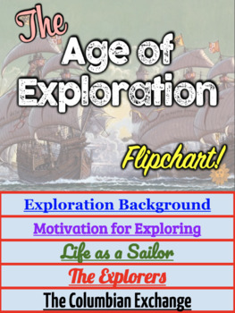 Age of Exploration DIGITAL Interactive Notebook! Fun Flipchart for Exploration!