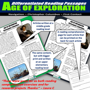 Age of Exploration Differentiated Reading Passages