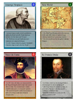 Age of Exploration / Discovery Trading Cards