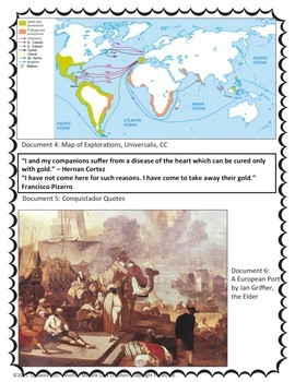 Age of Exploration Document Based Question Activity DBQ FRQ Lesson