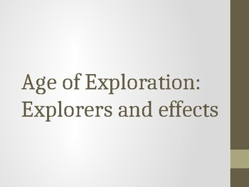 Age of Exploration: Explorers and Effects