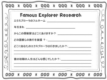 Age of Exploration, Explorers research/webquest