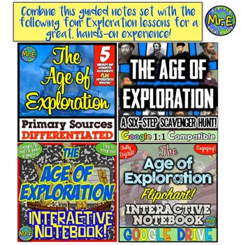 Age of Exploration Guided Notes and PowerPoint: Notes and PPT for Discovery!