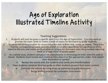 Age of Exploration Illustrated Timeline Review Activity