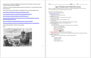 Age of Exploration Mapping Activity