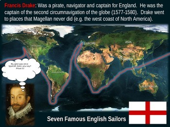 Age of Exploration Mapping Early Explorers (PART 3 - SEVEN ENGLISH EXPLORERS)